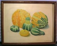 Vintage Still Life Oil Painting Signed