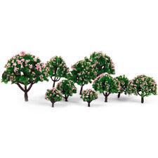 10 Pink Flower Trees Model Train Railroad Diorama Park Scenery HO N Z Scale