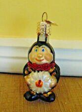 2002 Merck Old World Christmas blown glass bumble bee Christmas ornament