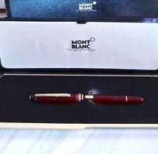 .Vintage Montblanc Meisterstuck 14k Nib Burgundy 144 Fountain Pen w box & papers