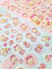 San-X Rilakkuma bears Korilakkuma Royalty cute kawaii kitsch sticker sheets