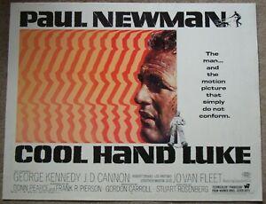 COOL HAND LUKE - Newman - RARE & ORIGINAL 1967 US 22x28 Half Sheet film poster
