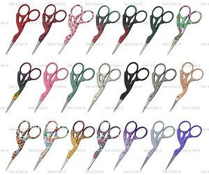 """3.5"""" Multi Purpose Bird/ Stork Small Beauty Embroidery Fancy Scissors 21 Styles"""