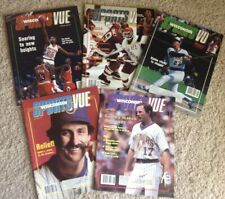 (5) 1980's SPORTSVUE Magazine MILWAUKEE BUCKS BREWERS UW-MADISON +more