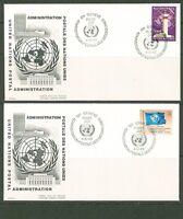 UN -Geneva 1969: #1-5,8,11,13 on 8 OFFICIAL UA Cachet FDCs - Lot#3/19