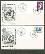 UN -Geneva 1969: #1-5,8,11,13 on 8 OFFICIAL UA Cachet FDCs - Lot#6/12
