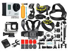 Gopro hero 3 серебряный издание действие камера + 40PCS аксессуар + водонепроницаемый чехол