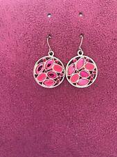 Pink Round Earrings