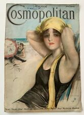 August 1917 Cosmopolitan Magazine – Harrison Fisher Cover Only - Bathing Beauty