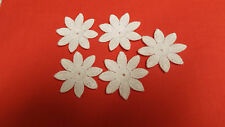 Iron on / sew on, White, Guipure Lace ,Applique, Daisy-Flower Motifs x 5 (4cm)