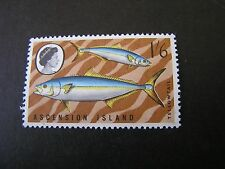 ASCENSION IS. SCOTT # 122, 1sh.6p VALUE MULTI-COLOR 1968-69 LOCAL FISH ISSUE MNH