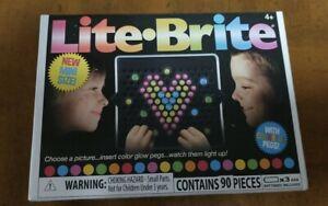 Mini Size Lite Brite Bright w/ 90 Pcs Colorful Pegs 02216 Ages 4+ NIB SHIPS FAST
