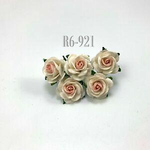 "1""/2.5cm Mulberry Open Rose Paper flower Wedding Scrapbook Craft (R6-5/Sweetฺ-B)"