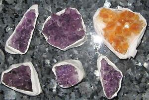 1 Lovely High Grade Amethyst or Citrine Crystal Cluster from Uruguay-3.5 to 6cms