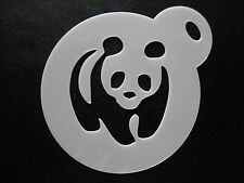 LASER CUT PICCOLO PANDA Walking design, biscotti, CRAFT & Face Painting Stencil