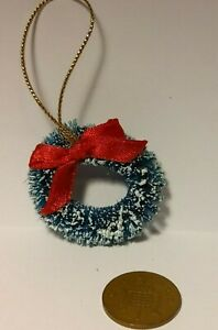 Dolls House Miniatures 1/12th Scale - Christmas Wreath for the Door