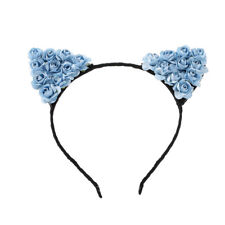 Cute Flower Orecchiette Covely Cat Ears Headband Cosplay Party Costume Hairband