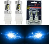 LED Light 80W 3156 Blue 10000K Two Bulbs Back Up Reverse Replace Upgrade Show