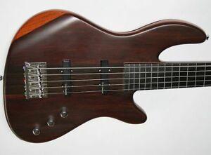 WELLER 5-Saiter Fretless Electric Bass Ebony Neck Thru Kent Armstrong PU Grover