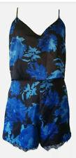 NEW* Topshop blue black floral Playsuit UK12 RRP-£46 310 READ DESCRIPTION