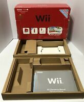 Nintendo Wii Red Console Sports/Super Mario Original Empty Box and inserts*ONLY*