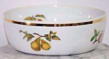 """ROYAL WORCESTER EVESHAM GOLD Large Salad Serving Bowl 10"""" England Fruit 87901"""
