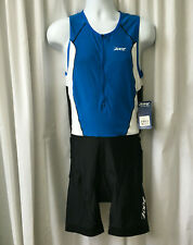 Nwt Size Xl Zoot Mens Trifit Racesuit Sleeveless Blue Black Fleece Padding New