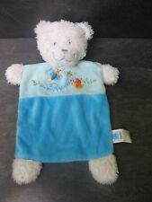 doudou ours blanc bleu papillon maison tex baby