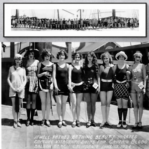 1924 Beauty Pageant PATHE Pirates VITAGRAPH Balboa CA Panorama Photo Reprint