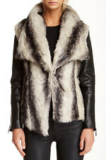 Stella & Jamie Chamonix Genuine Leather & Faux Fur Jacket - Size M - $484