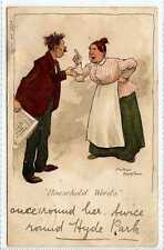 """(La5219-169) Artist Signed, """"Household Words""""  Used 1905  A Moreland"""