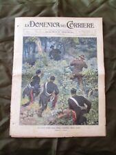 La Domenica del Corriere 6 Ottobre 1901 Caccia tragica- Polizia- Borsa di Milano