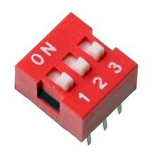 Switch commutateur interrupteur 3 positions DIP / 3 positions buttons Switch DIP