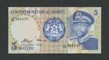 Lesotho 5 maloti 1979 P2 Uncirculated World Paper Money