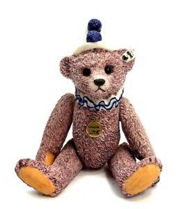 The Steiff Collection 1926 Teddy Clown Bear Porcelain  Bully Dog Pewter Figurine