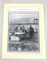 1914 Print Original WW1 French Military General Joffre Western Front Line Trench