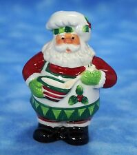 Fitz and Floyd Salt or Pepper Shaker Christmas Santa Chef Euc!