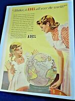 ADEL PRECISION PRODUCTS COLOR AD WAR II 1940'S ERA, MOTHER & DAUGHTER