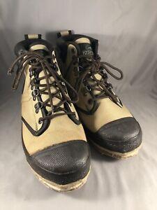 Redhead Fly Fishing/Wading Felt Bottom Canvas Boots Tan Size 7