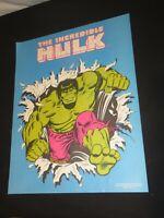 Incredible Hulk Poster 1979 Marvel Comics comic book promo Rare mint