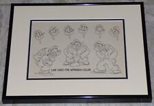 POPEYE 1940s ORIGINAL PRODUCTION MODEL SHEET FAMOUS STUDIOS