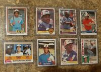 (8) Tim Raines 1981 Topps Donruss Fleer 1982 1983 1984 Rookie Card Lot RC Expos