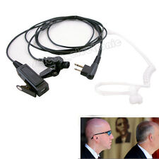2 WIRE SURVEILLANCE MIC EARPIECE FOR MOTOROLA CP200 PR400 CLS HYT RADIO HEADSET