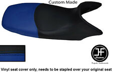 BLACK & ROYAL BLUE VINYL CUSTOM FITS HONDA XL 125 01-12 VARADERO SEAT COVER ONLY