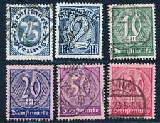 D.Reich Dienst Nr. 69-74 gestempelt, geprüft Infla (56984)