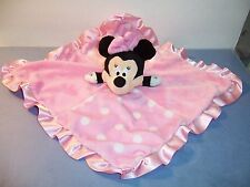 SECURITY BLANKET - DISNEY BABY - MINNIE MOUSE - PINK / DOTS / CRINKLE - VGC