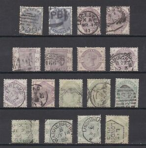 Lot:38854  GB QV  surface printed   Lilac & Green collection