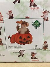 New Hooray! It's Pumpkin Time! Charming Tails Mouse Figurine Nib #4046775