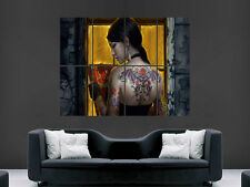 FANTASY GIRL WITH TATTOOS  HUGE LARGE WALL ART POSTER PICTURE