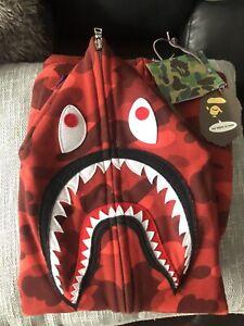 A BATHING APE Red shark Hoodie